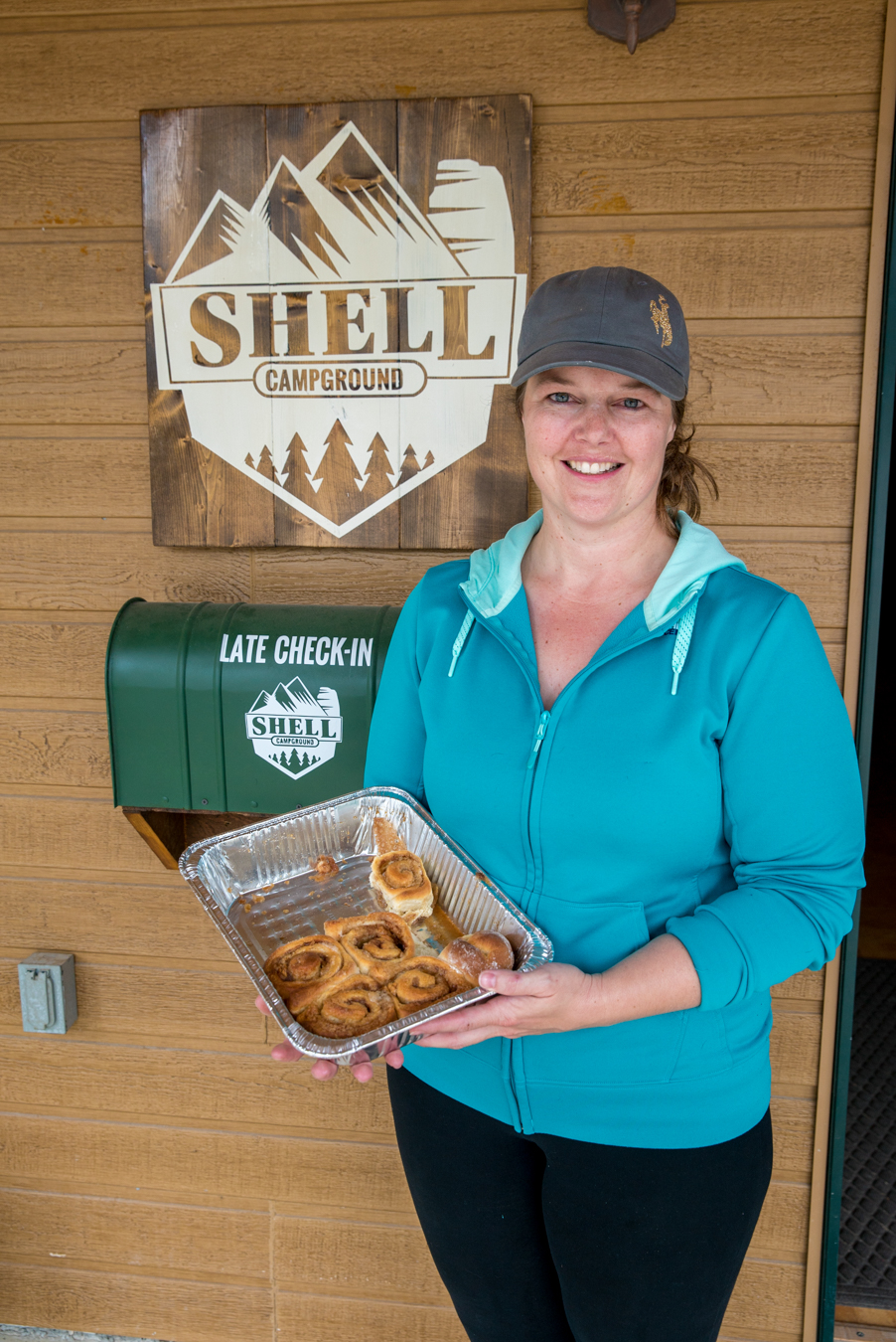 Shell Campground famous cinnamon rolls