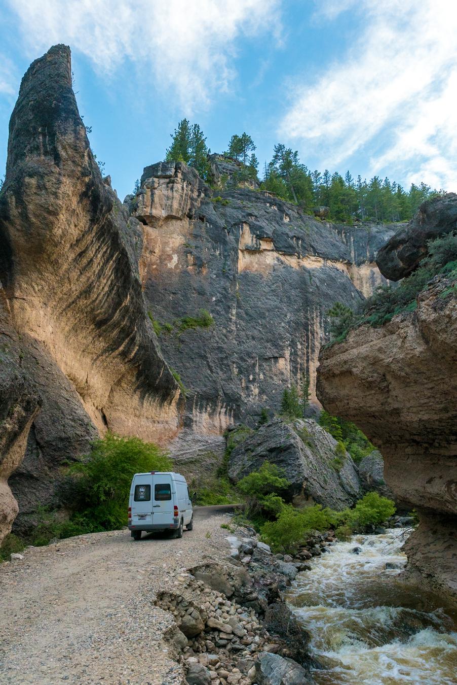 Slot canyon just outside of Buffalo