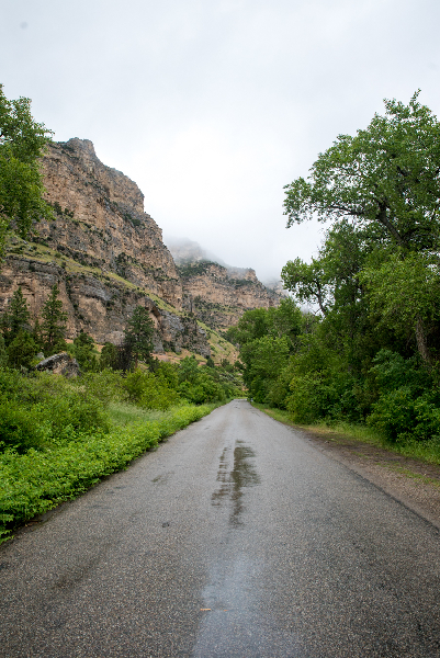 Rainy mornings in Ten Sleep Canyon