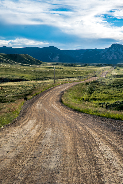 Road to the Bighorn Mountains